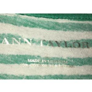 Ann Taylor Tops - Ann Taylor Blouse Size L Short Sleeve Striped